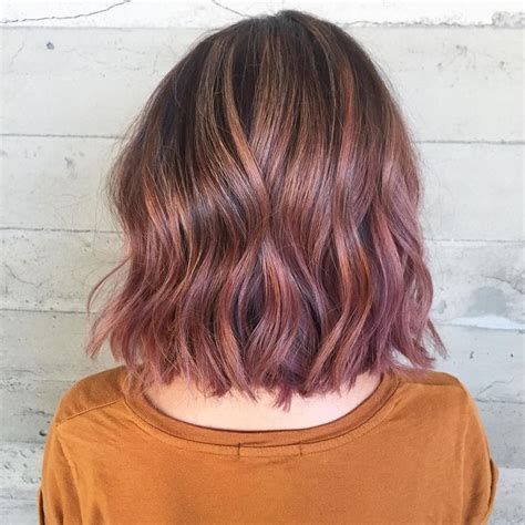 Image Result For Subtle Pink Highlights In Brown Hair My