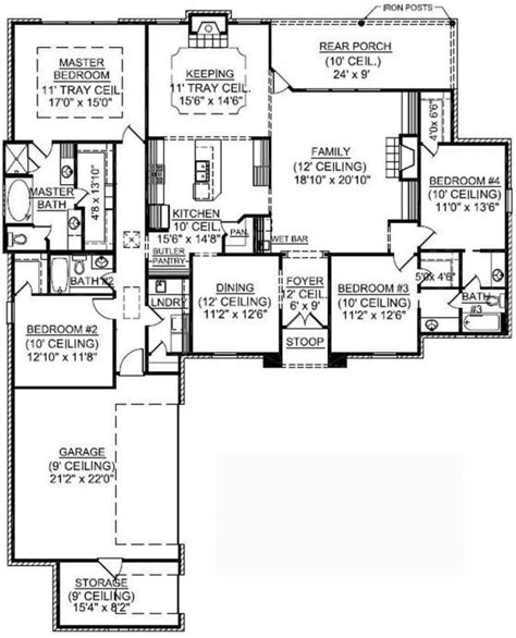4 bedroom country house plans 653722 1 4 bedroom country house plan