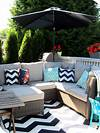 My House of Giggles: Navy and White Upper Deck / Patio outdoor patio deck