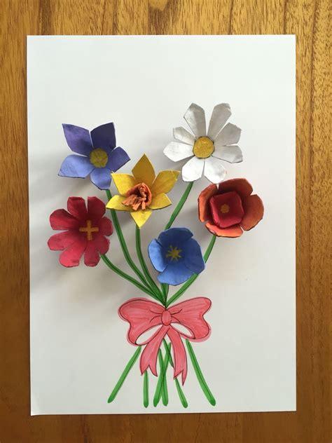 egg carton flowers  easy craft    spring