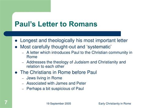 a letter to an early christian community is called ppt development of early christianity in rome powerpoint