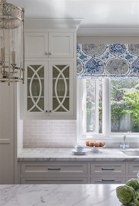 mullions for kitchen cabinets classic white kitchen with grey backsplash home bunch
