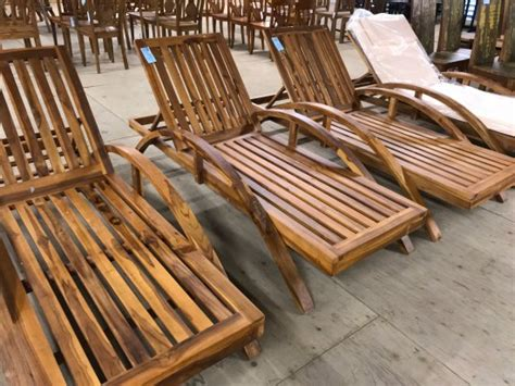 teak wood loungers  cushions picture  bali boo