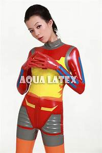 Japanese Style Sexy Colorful Space Latex Suit Fashion ...