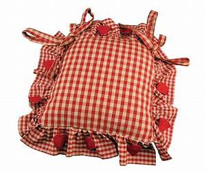 Aux Portes De La Deco : galette de chaise vichy country corner aux portes de la ~ Nature-et-papiers.com Idées de Décoration