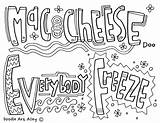 Cheese Mac Template Coloring Pages sketch template