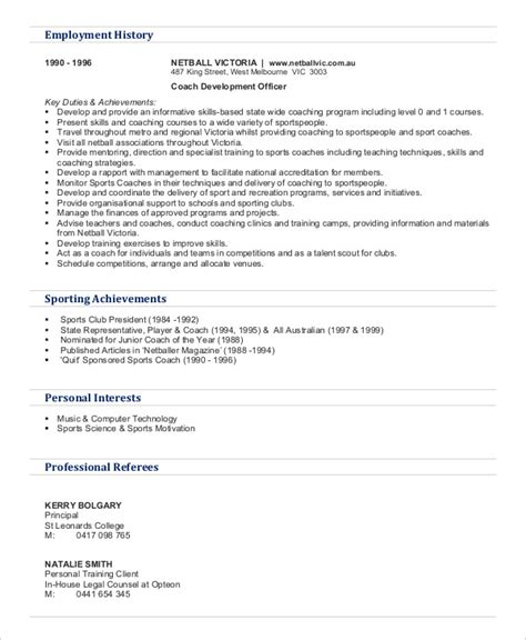 Gym Trainer Resume Download Unforgettable Personal Trainer