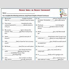 Present Simple Or Present Continuous? Worksheet By Mariapht  Teaching Resources