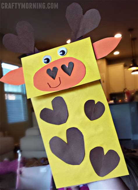 valentines day heart shaped animal crafts  kids