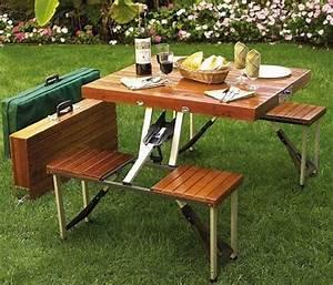 Table Pliante Avec Chaise : table de camping avec chaises pliantes int gr es ~ Teatrodelosmanantiales.com Idées de Décoration