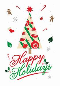 happy holidays card free greetings island