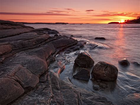 sunset landscapes bay 1600x1200 wallpaper High Quality ...