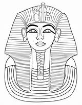 Pharaoh Coloring Sculpture Egypt Toutankhamon Drawing Ancient Printable Medias Fr Pages Egyptian Draw Wolf sketch template