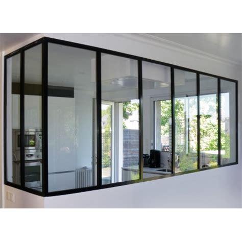 cuisine avec verri鑽e separation vitree entre cuisine et salon maison design bahbe com