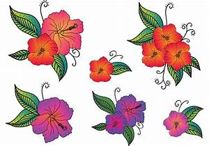 Free Vector Polynesian Flowers - Download Free Vector Art