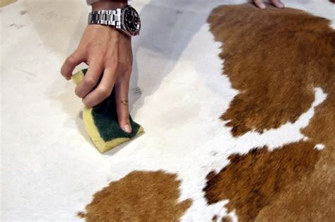 Clean Cowhide Rug by Product Care Fur Home