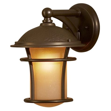 allen roth 11 in antique bronze outdoor wall light