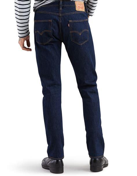 Levi's Men's 501 Original Fit Jeans  Rinsed Indigo