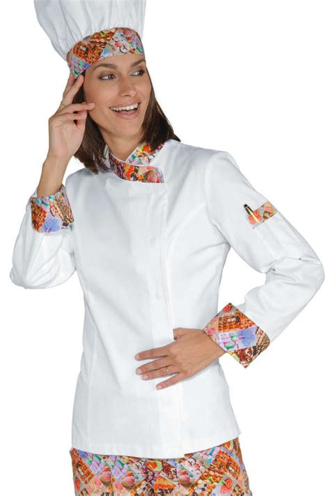 chef de cuisine femme veste chef femme snaps blanc delicious 100 coton