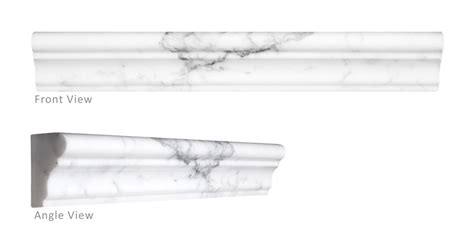 statuary polished marble tile chair rail molding