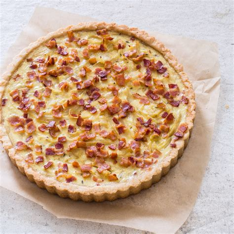 french onion  bacon tart americas test kitchen