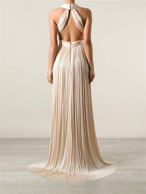 lyst maria lucia hohan flamingo dress  natural