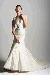 stunning and dramatic deep v wedding dress with trumpet With wedding dress petite frame