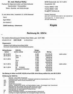 Pvs Rechnung : rst med win privatliquidation ~ Themetempest.com Abrechnung
