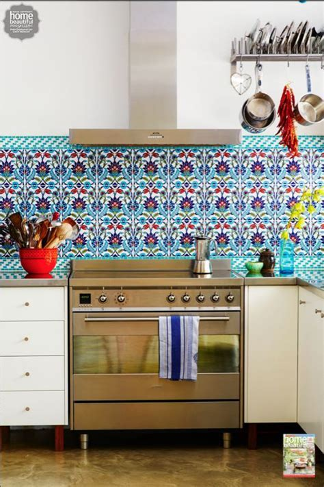 Poh Ling Yeow's colourful Turkish tiled kitchen looks like