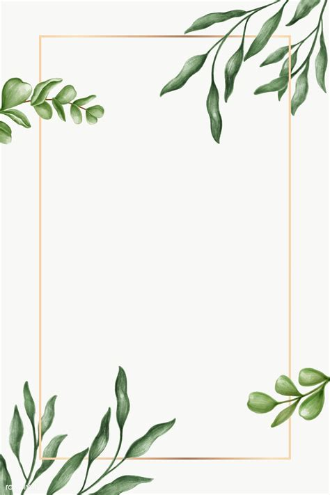 Green leaves frame transparent png   premium image by ...