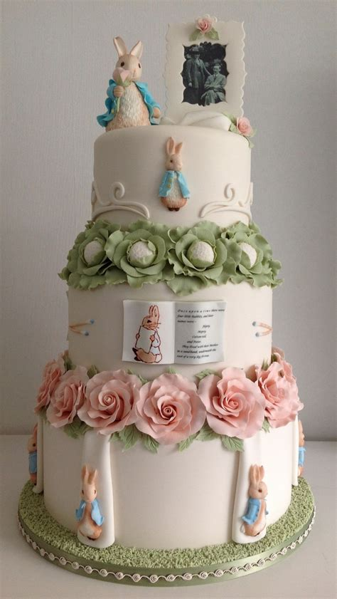 peter rabbit wedding cake cakecentralcom