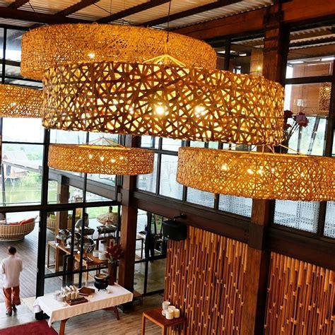 woven chandeliers at burangrang cafe bistro dusun bambo