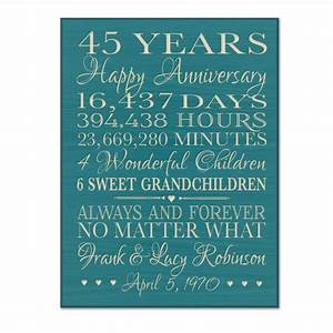 personalized 45th anniversary gift for by dayspringmilestones With 45 wedding anniversary gifts