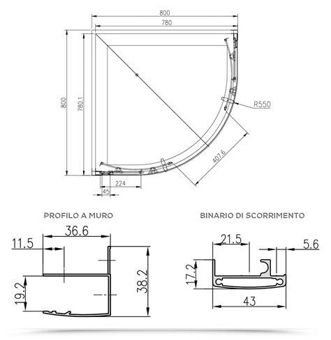 Box Doccia Semicircolare 80x80 Cristallo by Box Doccia Semicircolare 80x80 Cristallo Trasparente 6 Mm