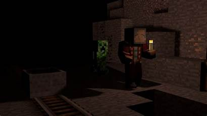 Minecraft Wallpapers Miner Lonely