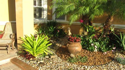 zen tropical rock garden curb appeal