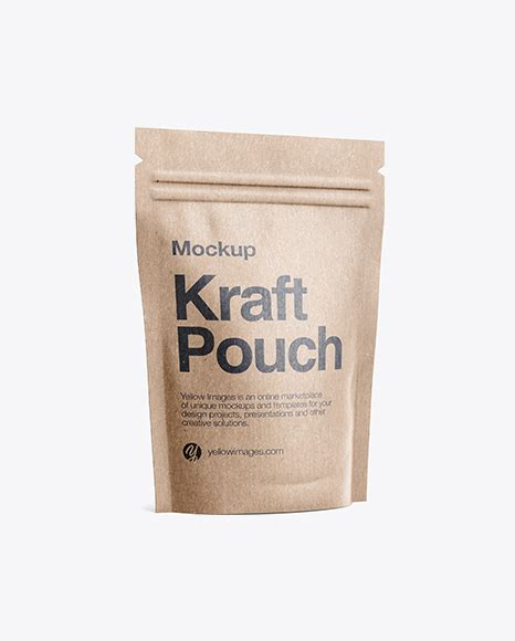 Its a simple clean and perfect to use on your next business. Kraft Stand-Up Pouch Mockup - Half Side View Packaging ...