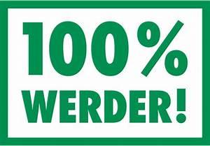 Werder Bremen Kissen : wandtattoo werder bremen 100 prozent werder bremen deko ~ Orissabook.com Haus und Dekorationen