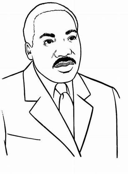 Luther Martin King Coloring Jr Pages Dr