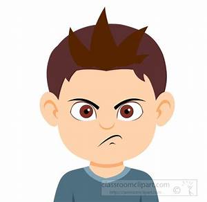 Facial Expressions Clipart- boy-character-angry-expression ...