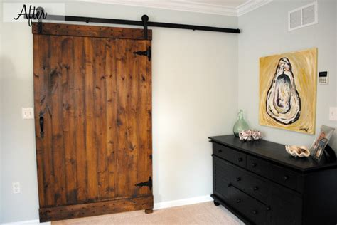 Coastal Bedroom  Barn Door Traditionalbedroom