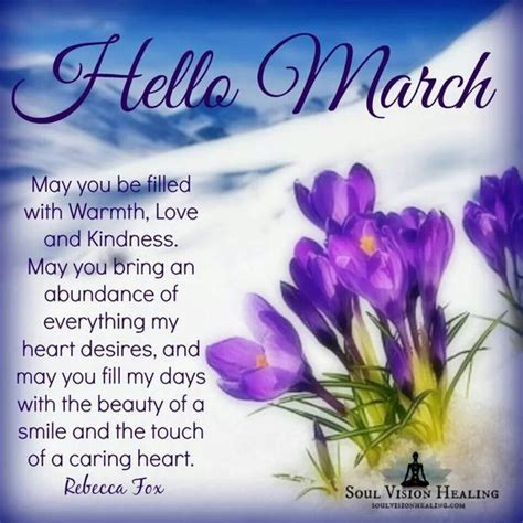 Hello March Inspirational Quotes Pictures, Photos, and ...