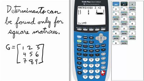 matrix determinant ti  calculator youtube