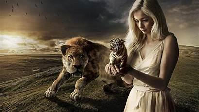 Tiger Fantasy 1080p Wallpapers Awesome Prehistoric Kobieta