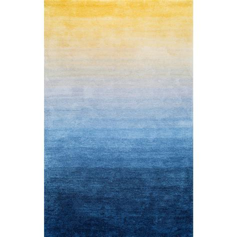 nuloom ombre hertha shaggy navy  ft   ft area rug