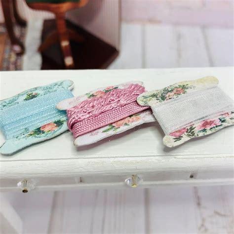 dollhouse miniature sewing trim set    scale