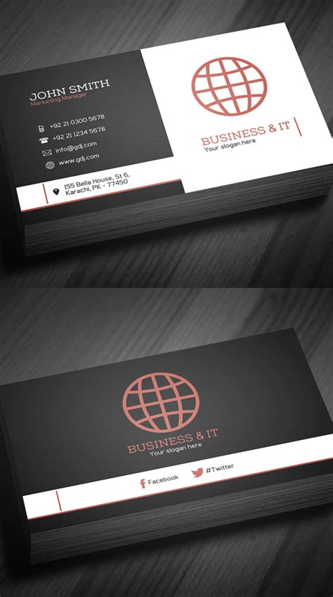 business cards psd templates print ready design