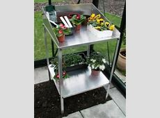 Halls New Aluminium Potting Bench Buy Halls Greenhouses