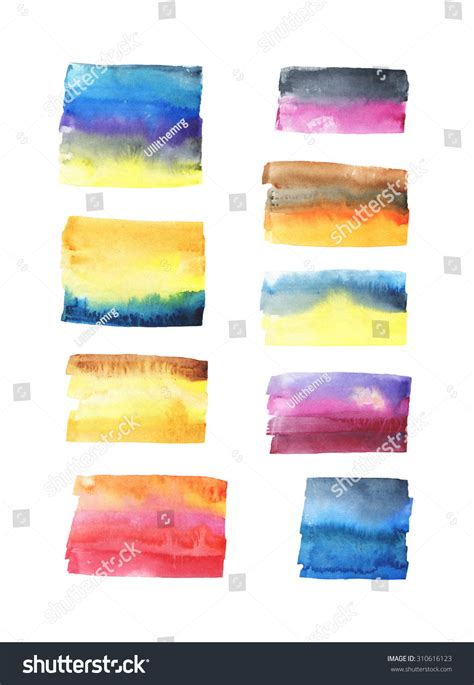 Hand Painted Watercolor Background Watercolor Wash Stock