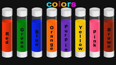 Learn The Colors With Colorful Liquids  Learning The